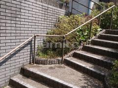 施工例画像:玄関階段 手摺り(手すり) LIXILリクシル グリップライン