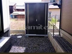 施工例画像:イナバ物置 シンプリー MJX-137EP 野外物置き 収納庫 倉庫