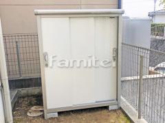 施工例画像:ヨド物置 エスモ ESE-1207E 野外物置き 収納庫 倉庫