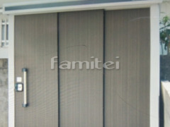 施工例画像:ヨド物置 エルモ LMDS-1811 野外物置き 収納庫 倉庫