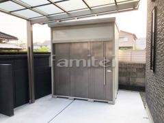 施工例画像:タクボ物置 Mr.トールマンダンディ JN2219 野外物置き 収納庫 倉庫
