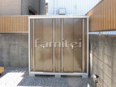 施工例画像:イナバ物置 シンプリー MJX-199E 野外物置き 収納庫 倉庫