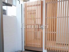 施工例画像:お庭の門扉 マイティ門扉 ラインスタイル  片開き
