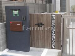 施工例画像:玄関門扉 LIXILリクシル 開き門扉AA TS2型 04-07-12 親子両開き