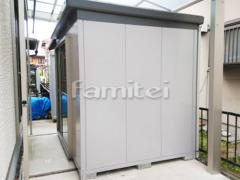 施工例画像:イナバ物置 ナイソー SMK-47S 野外物置き 収納庫 倉庫