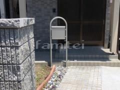 施工例画像:機能門柱 YKKAP ポスティモ