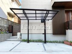 施工例画像:自転車バイク屋根 YKKAP エフルージュグランミニ サイクルポート F型フラット屋根