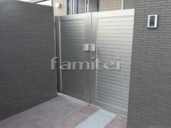 施工例画像:玄関門扉 YKKAP シンプレオ5型 08-14 両開き