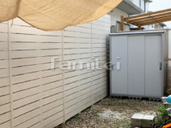 施工例画像:ヨド物置 エスモ ESE-1507A 野外物置き 収納庫 倉庫