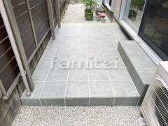 施工例画像:タイルデッキ LIXILリクシル グレイスランド300角