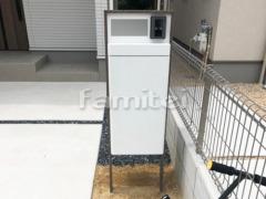 施工例画像:機能門柱 LIXILリクシル フレームセット スマート宅配ポスト
