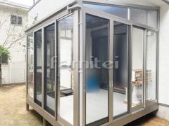 施工例画像:ガーデンルーム YKKAP ソラリア F型フラット屋根 テラス囲い サンルーム