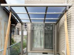 施工例画像:自転車バイク屋根 LIXILリクシル ネスカR 駐輪場屋根 サイクルポート R型アール屋根