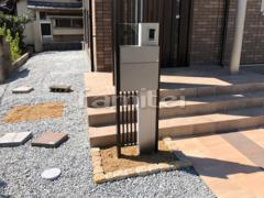 施工例画像:機能門柱 LIXILリクシル ウィルモダン