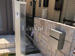 施工例画像:機能門柱 YKKAP ルシアスサインポールA01型