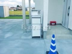 施工例画像:機能門柱 Panasonicパナソニック アーキフレームF 宅配ボックス付き ミドルタイプ