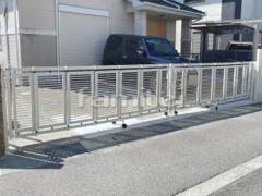 施工例画像:車庫門扉 伸縮ゲート エクスライン1型 両開き 2台用 YKK