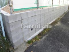 施工例画像:境界ブロックCB100 5段積み 型枠