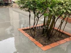 施工例画像:レンガ花壇 ユニソン ソイルレンガ210