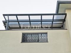 施工例画像:ベランダ屋根 LIXILリクシル パワーアルファ 2階用 積雪50cm対応 F型フラット屋根 物干し 既存テラス撤去