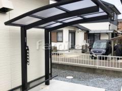 施工例画像:自転車バイク屋根 YKKAP レイナポートグランミニ 駐輪場屋根 サイクルポート R型アール屋根