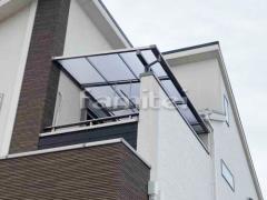 施工例画像:ベランダ屋根 LIXILリクシル スピーネ 2階用 F型フラット屋根 物干し