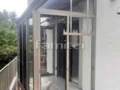 施工例画像:ガーデンルーム YKKAP ソラリア サンルーム R型アール屋根