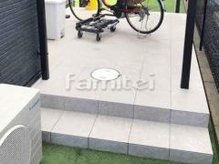 施工例画像:タイルデッキ 床タイル貼り LIXILリクシル グッドフロア300角