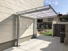 施工例画像:自転車バイク屋根 LIXILリクシル ネスカF 駐輪場屋根 サイクルポート