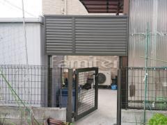 施工例画像:目隠しフェンス塀 LIXILリクシル ハイスクリーンA型