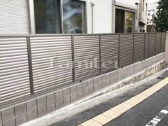 施工例画像:目隠しフェンス塀 LIXILリクシル フェンスAB YL3型