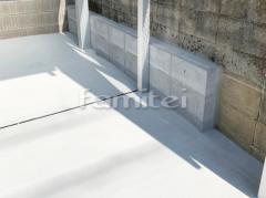 施工例画像:駐車場ガレージ床 土間コンクリート CBブロック積み