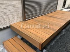 施工例画像:人工木ウッドデッキ TAKASHOタカショー エバーエコウッドリアル