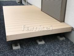 施工例画像:人工木材ウッドデッキ LIXILリクシル 樹ら楽ステージ(きらら) 樹脂