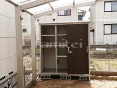 施工例画像:ヨド物置 エスモ ESE-1809A 野外物置き 収納庫 倉庫