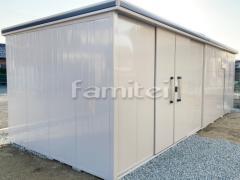 施工例画像:ヨド物置 エルモ LMD-7229HL 野外物置き 収納庫 倉庫