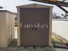 施工例画像:おしゃれ物置 KETERケター Factor(ファクター)6×6 樹脂 野外物置き 収納庫 倉庫
