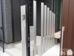 施工例画像:機能門柱 YKKAP ルシアスポストユニット 郵便受けポスト 角柱 汎用角材