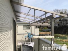 施工例画像:本体色 シャイングレー 屋根色 クリアマット 物干し竿