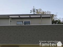 施工例画像:カーポート2台 リクシル ネスカR 2階ベランダ屋根 スピーネF