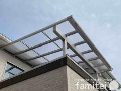 施工例画像:ベランダ屋根 YKK ソラリア 雪50