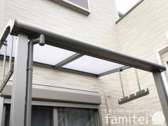 施工例画像:本体色 シャイングレー 屋根色 クリアマット 物干し(ロング吊下げ)