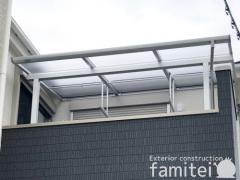 施工例画像:自転車バイク屋根 YKK エフルージュグラン FIRST