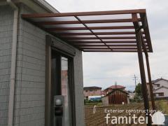 施工例画像:フル木製調テラス屋根 YKKAP サザンテラス フレームタイプ 1階用 F型フラット屋根