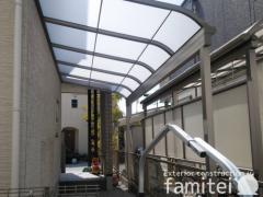 施工例画像:雨除け屋根 LIXILスピーネ