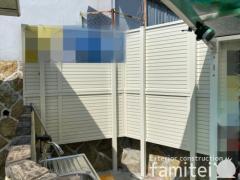 施工例画像:目隠しフェンス LIXIL AB YM2型