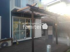 施工例画像:フル木製調 サザンテラス パーゴラタイプ