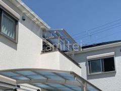 施工例画像:カーポート1台 YKK レイナポートグラン 2階ベランダ屋根 ソラリアF