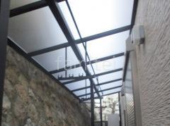 施工例画像:木製調目隠しフェンス塀 プランパーツ