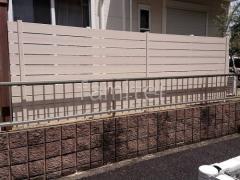 施工例画像:目隠しフェンス塀 F&F マイティウッド